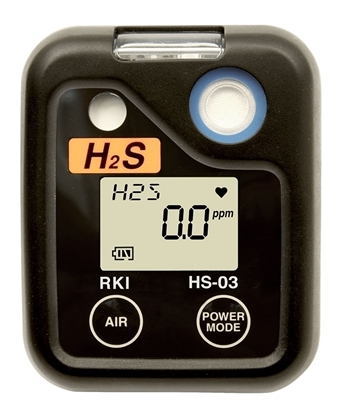 Picture of HS-03, 0-100 ppm H2S w/alligator clip & alkaline batteries