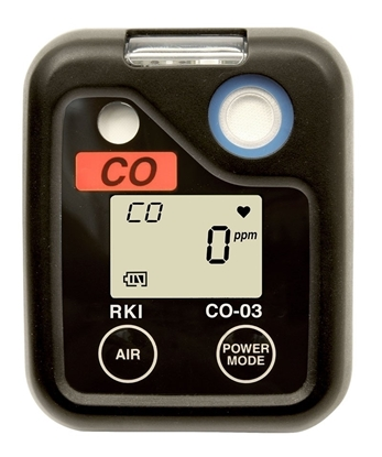 Picture of CO-03, 0-500 ppm CO Kit w/calibration kit (34L cyl 50 ppm CO/N2, regulator, cal cup & tubing), screwdriver, small padded case, alligator clip & alkaline batteries