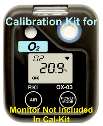 Picture of OX-03 Calibration Kit w/34L cyl 100% N2, regulator, cal cup, case & tubing - 81-OX03-LV